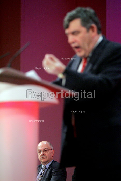2005 Labour Party Spring Conference, The Sage, Gateshead On Tyne. 12/2 2005 Chancellor Gordon Brown. - Mark Pinder - 2005-02-12