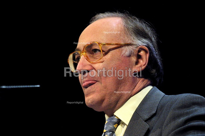 Michael Howard MP, shadow chancellor of the exchequer speaking at the Conservative Party spring conference. 