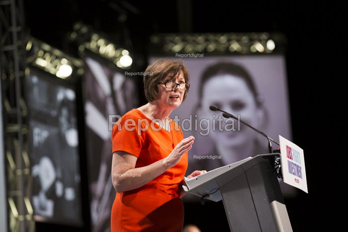 Frances O'Grady speaking at TUC conference Brighton. - Jess Hurd - 2016-09-12