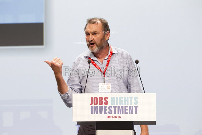 Kevin Courtney, NUT speaking TUC conference Brighton. - Jess Hurd - 2016-09-12
