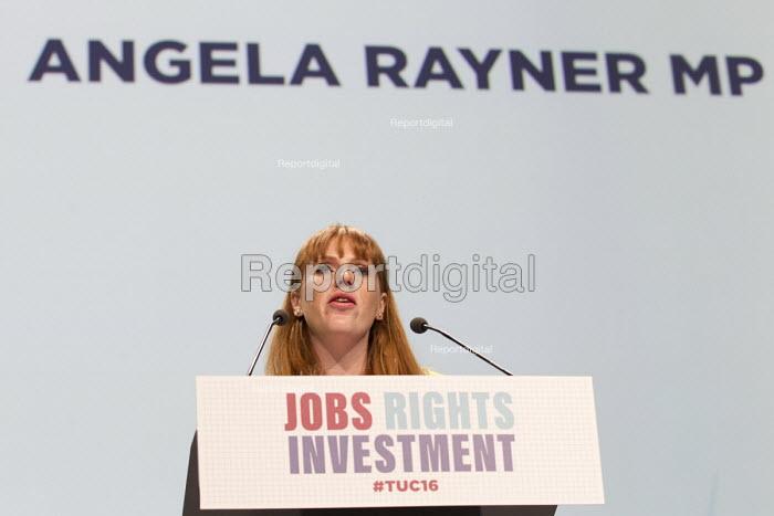 Angela Rayner MP speaking TUC conference Brighton. - Jess Hurd - 2016-09-13