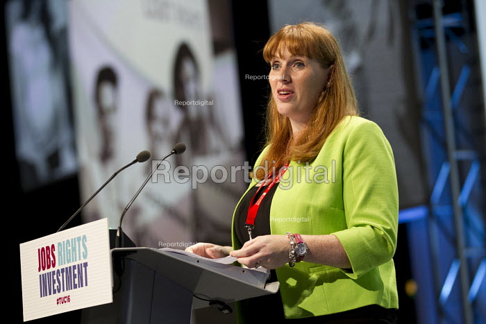 Angela Rayner MP speaking TUC conference Brighton. - Jess Hurd - 2016-09-13