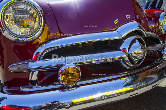 Fort Bragg, California, enthusiasts show off classic old cars and tuned hot rods theyve lovingly restored and customized. 1951 Ford V8 - David Bacon - 2016-09-04
