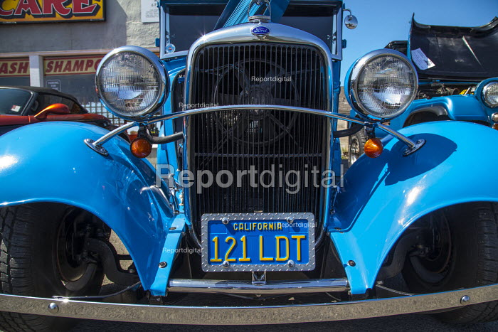Fort Bragg, California, enthusiasts show off classic old cars and tuned hot rods they've lovingly restored and customized. - David Bacon - 2016-09-04