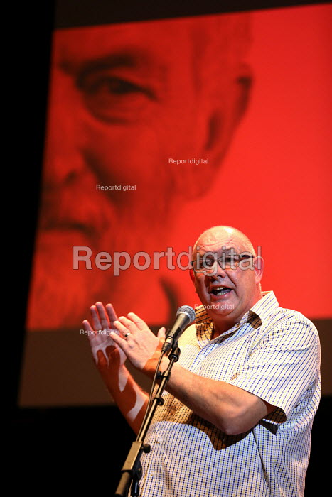 Dave Ward CWU speaking Momentum meeting hosted by PCS, TUC Congress, Brighton - Jess Hurd - 2016-09-13