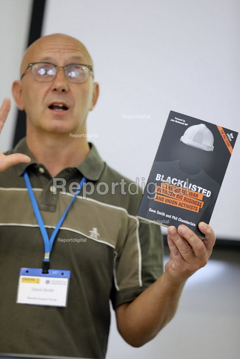 Dave Smith speaking at Bullying and Blacklisting Conference, Greenwich University, South London. - Jess Hurd - 2016-09-16