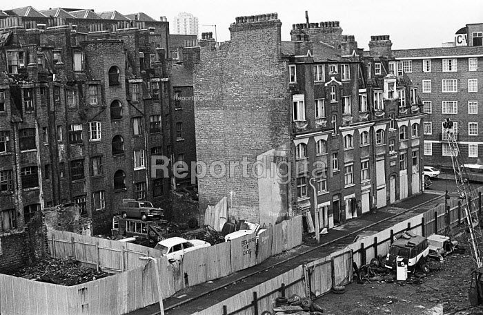 Clearance of slum housing, Tower Hamlets, one of the poorest boroughs in the UK, 1976. - Angela Phillips - 1976-02-12