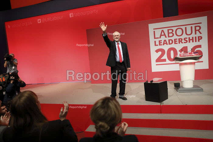 Jeremy Corbyn elected leader of the Labour Party for a second time, Liverpool. - Jess Hurd - 2016-09-24