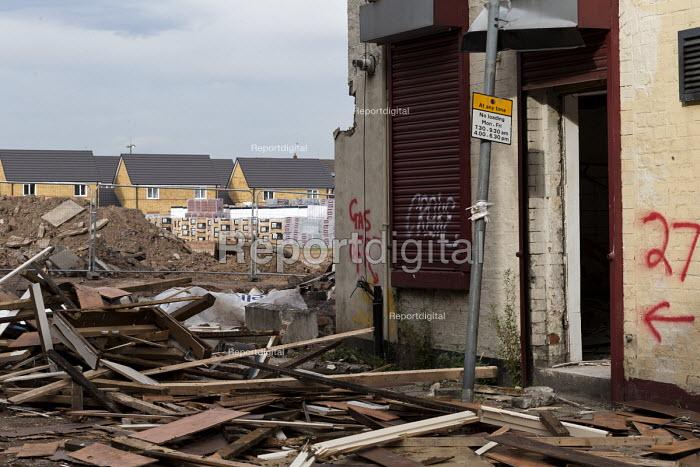 Regeneration, new housing and demolition of old shops, Edge Hill, Liverpool - John Harris - 2016-09-24