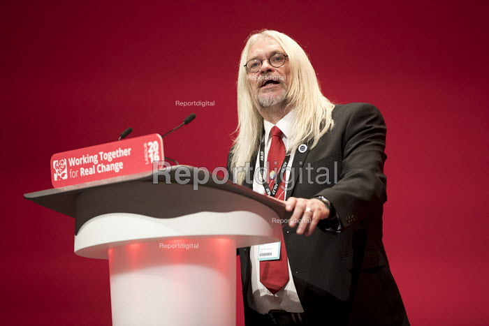 Tosh McDonald ASLEF, Labour Party conference Liverpool. - Jess Hurd - 2016-09-25