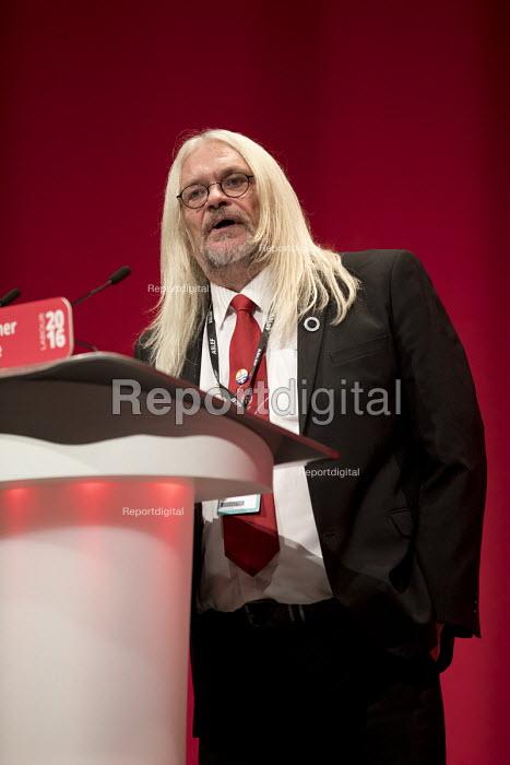 Tosh McDonald ASLEF, Labour Party conference Liverpool. - Jess Hurd - 2016-09-25