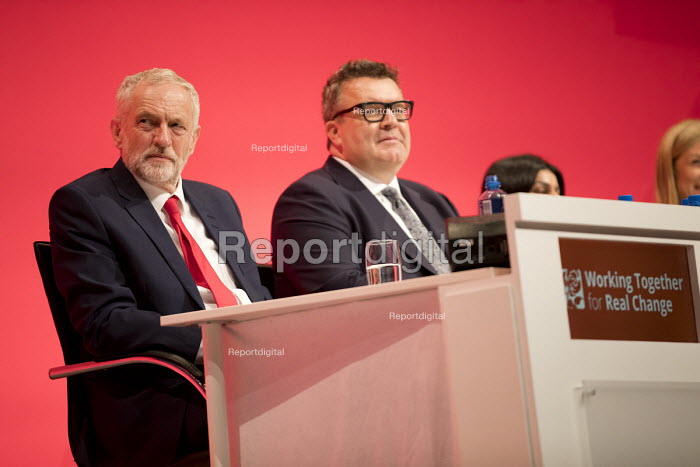 Jeremy Corbyn and Tom Watson, Labour Party conference Liverpool. - Jess Hurd - 2016-09-25