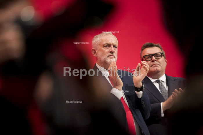 Jeremy Corbyn and Tom Watson during a tribute to Jo Cox, Labour Party conference Liverpool. - Jess Hurd - 2016-09-25