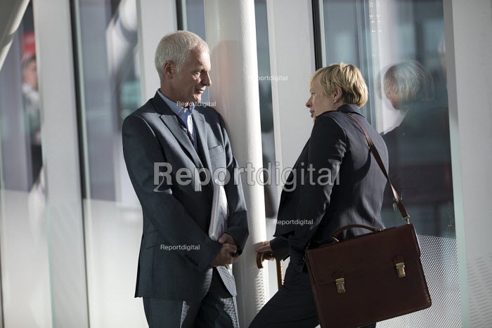 Angela Eagle MP and Lord Cashman CBE talking, Labour Party conference Liverpool - Jess Hurd - 2016-09-25