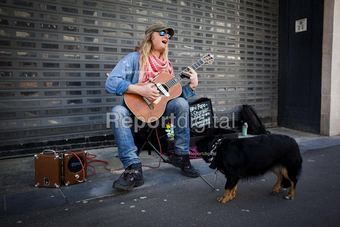 Busking on the streets of Sheffield. Sheffield, South Yorkshire - Connor Matheson - 2016-05-04