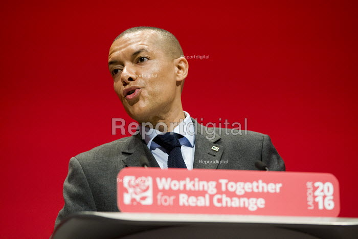 Clive Lewis MP speaking Labour Party conference Liverpool. - Jess Hurd - 2016-09-26