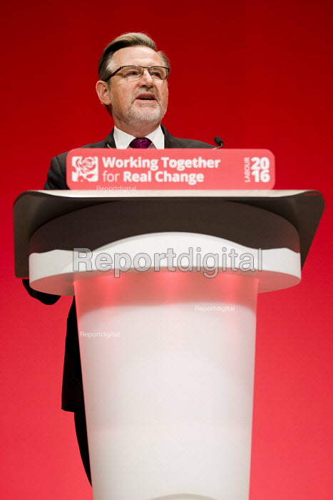 Barry Gardiner MP speaking Labour Party conference Liverpool. - Jess Hurd - 2016-09-26