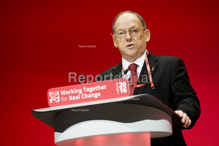 Brian Rye, UCATT speaking Labour Party conference Liverpool. - Jess Hurd - 2016-09-26
