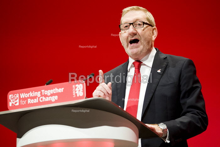 Len McCluskey, UNITE speaking Labour Party conference Liverpool. - Jess Hurd - 2016-09-26