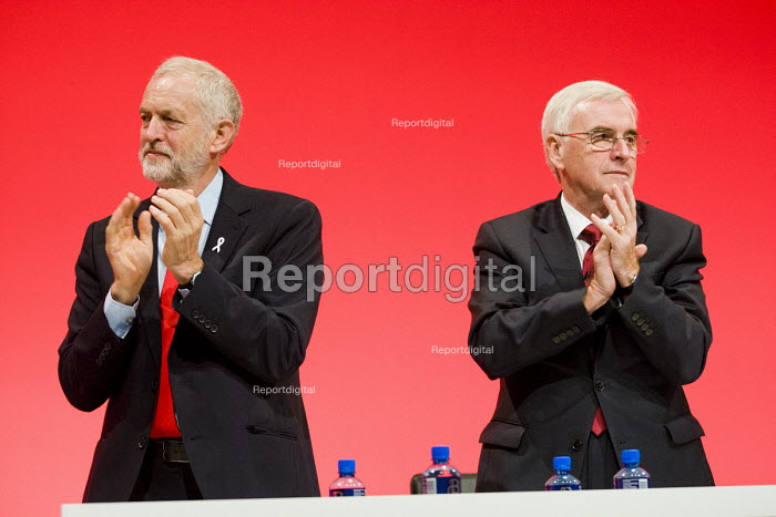 Jeremy Corbyn and John McDonnell Labour Party conference Liverpool. - Jess Hurd - 2016-09-26