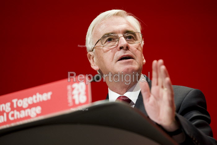 John McDonnell speaking Labour Party conference Liverpool. - Jess Hurd - 2016-09-26