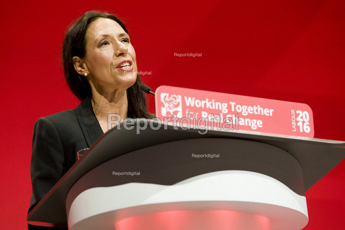 Debbie Abrahams MP speaking Labour Party conference Liverpool. - Jess Hurd - 2016-09-26