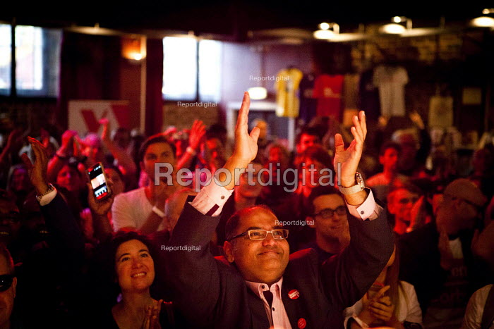 Corbyn supporters attending the live screening of the labour leadership election results, The World Transformed. Black-E, Liverpool - connor matheson - 2016-09-24