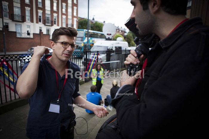Joe todd, Momentum press officer outside The World Transformed, Black-E, Liverpool - connor matheson - 2016-09-24