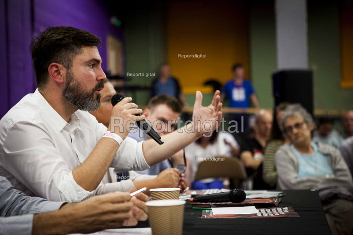 Fabio De Masi MEP Die Linke speaking, workshop, The World Transformed, Black-E, Liverpool - connor matheson - 2016-09-25