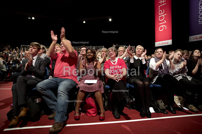 Jeremy Corbyn speaking, Labour Party Conference, Liverpool. - Jess Hurd - 2016-09-28