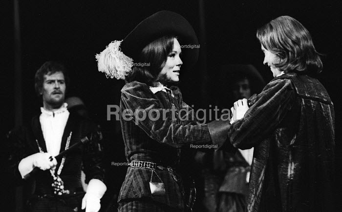 Diana Rigg starring as Viola in RSC production Twelfth Night Stratford upon Avon 1966 - Patrick Eagar - 1966-06-13