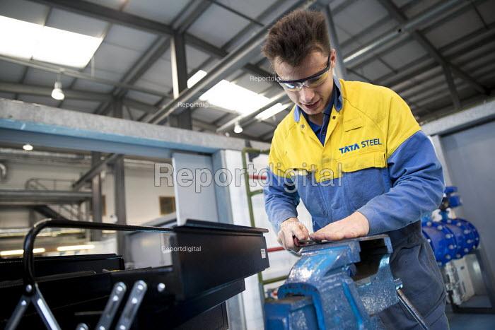 Apprentice at work, Apprentice Academy, Tata Steel Port Talbot, South Wales - Jess Hurd - 2016-09-22
