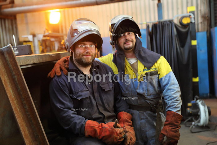 Welders, Engineering Workshop, Tata Steel Port Talbot, South Wales - Jess Hurd - 2016-09-22