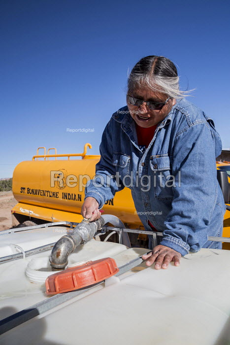 Thoreau, New Mexico, clean water being delivered by St. - Jim West, JW1610U186.jpg