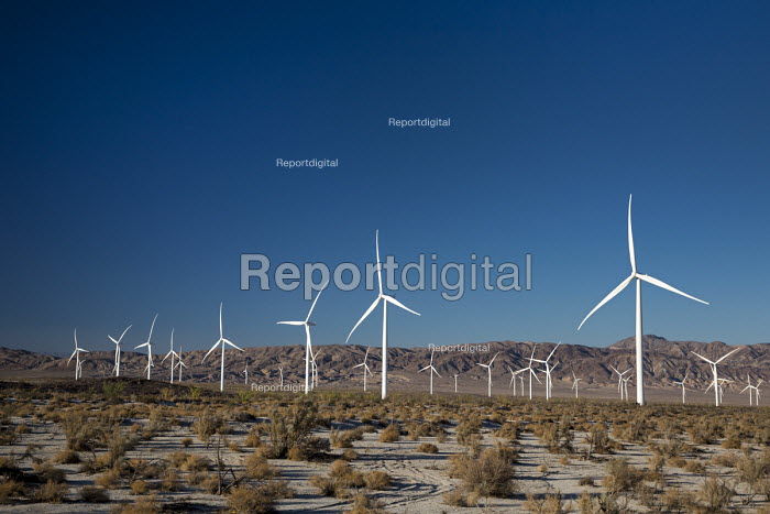 Ocotillo, California - The Ocotillo Wind Project uses 112 wind turbines to generate 265MW of electricity. The wind farm is operated by Pattern Energy. - Jim West - 2016-10-15