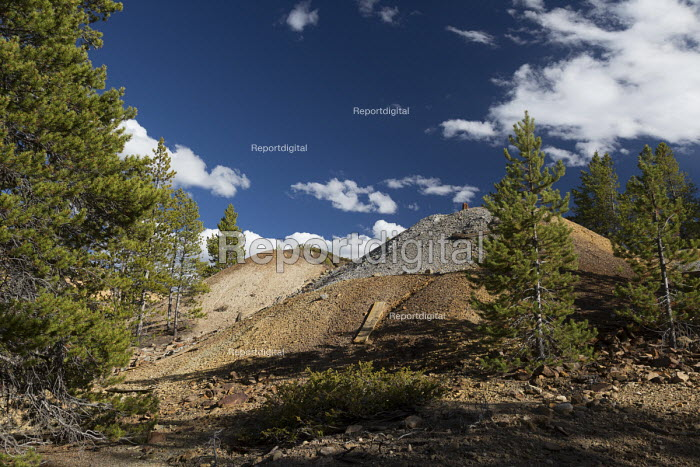 Leadville, Colorado, USA The Leadville Mining District. Mining for gold, silver, lead, zinc, and copper began here in 1860 - Jim West - 2016-09-19