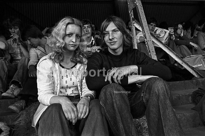 Fans and crowd at The Who concert 1976 , Charlton football ground, Charlton, South East London - Martin Mayer - 1976-05-31