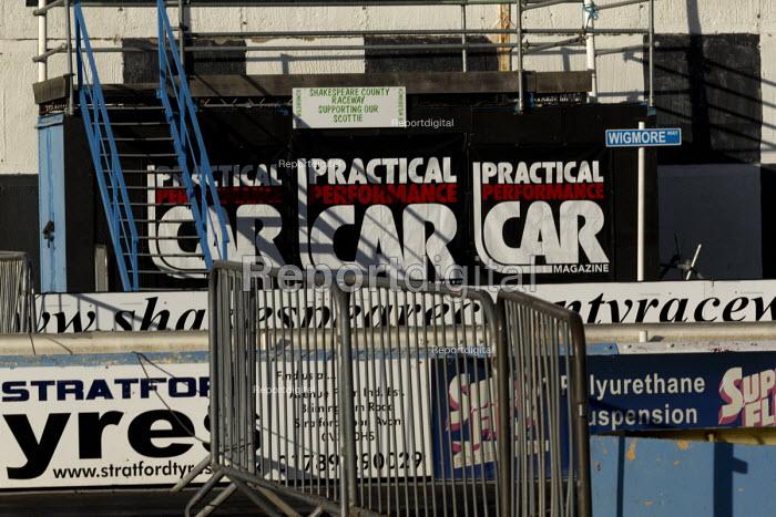 Drag racing track stand, Long Marston Airfield, to be a Garden Village housing development, Warwickshire - John Harris - 2017-01-04