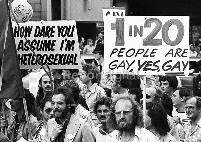 Gay Pride protest for equal rights for homosexuals London 1976 - Chris Davies - 1976-08-07