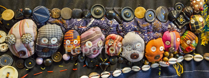 Cincinnati, Ohio textile artwork by Aminah Brenda Lynn Robinson at the National Underground Railroad Freedom Center museum of the history of slavery and the underground railroad - Jim West - 2017-01-17