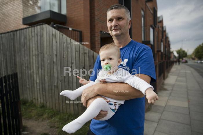 Alex and grandchild Mason, originally from Hungary, Dingle, Liverpool - Jess Hurd - 2016-09-24