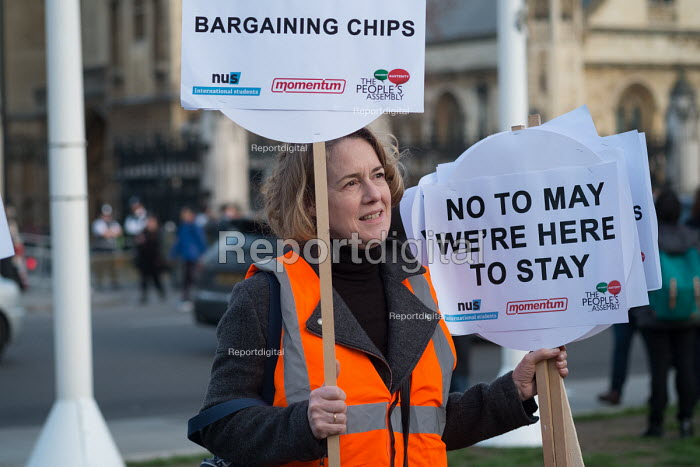 Defend EU Migrants Right to Remain protest during as Parliament votes to trigger Article 50, Parliament Square London - Philip Wolmuth - 2017-03-13
