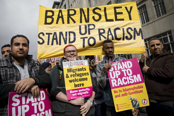 Barnsley Stand up to Racism protest, International Anti Racism Day, London. - Jess Hurd - 2017-03-18
