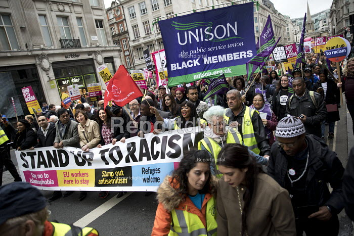 Frances OGrady TUC, Stand up to Racism protest, UN Anti Racism Day, London - Jess Hurd - 2017-03-18
