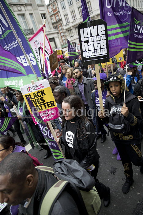 Stand up to Racism protest, UN Anti Racism Day, London. love music hate racism - Jess Hurd - 2017-03-18