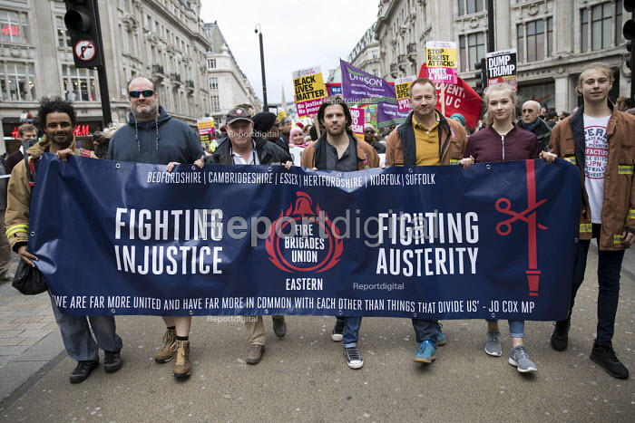 FBU, Stand up to Racism protest, UN Anti Racism Day, London - Jess Hurd - 2017-03-18