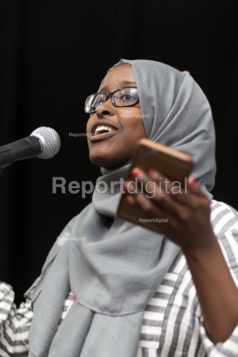 Faduma Miski speaking, Momentum Inaugural Conference, Birmingham - John Harris - 2017-03-25