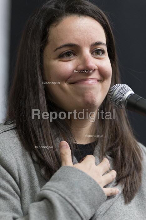 Eiza Gonzalez Podemos speaking, Momentum Inaugural Conference, Birmingham - John Harris - 2017-03-25