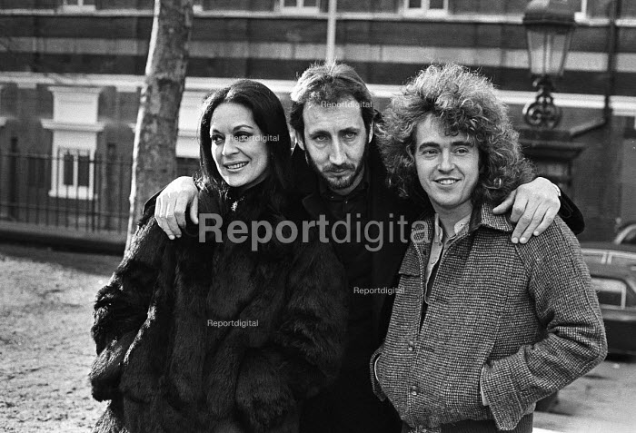 Pete Townsend of The Who (C), Allan Love and Anna Nicholas, Tommy, Queens Theatre, London 1979 stars of the original stage production of the musical Tommy - Martin Mayer - 1979-01-11