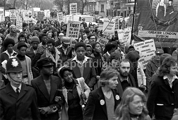 NUPE protest against NHS cuts, London 1976 - NLA - 1976-11-17